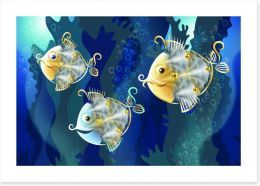 Funny fish Art Print 53385325