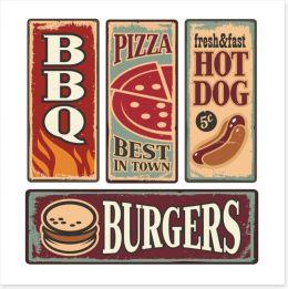 Fast food vintage Art Print 53525121