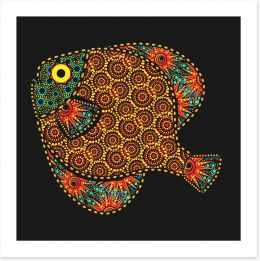African fish Art Print 53766300