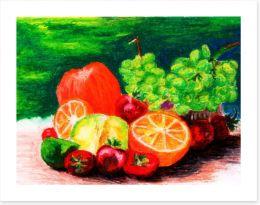 Vibrant fruit still life