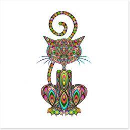 The pattern cat Art Print 54045051