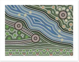 The river track Art Print 54198255