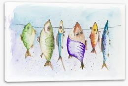 Mackerel on the line Stretched Canvas 54269853