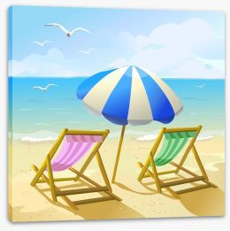Deck chair days Stretched Canvas 54340182