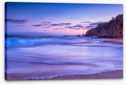 California beach sunset Stretched Canvas 54490517