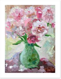 Pink peonies in a vase Art Print 54594236