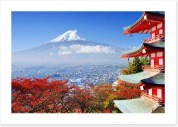 Mt. Fuji and Chureito Pagoda Art Print 54636376