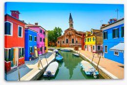 Burano canal church, Italy