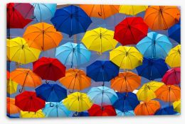 The festival of umbrellas Stretched Canvas 54728630