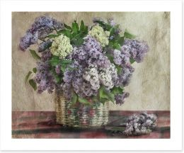 Lilac basket bouquet
