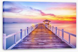 Just before sunrise Stretched Canvas 55017607