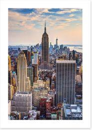 New York City at dusk Art Print 55075201