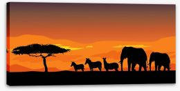African safari at sunset Stretched Canvas 55248732
