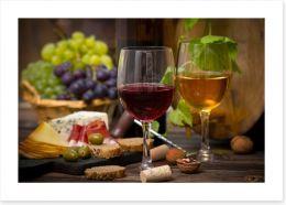 Cheese and wine Art Print 55333932