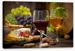 Cheese and wine Stretched Canvas 55333932
