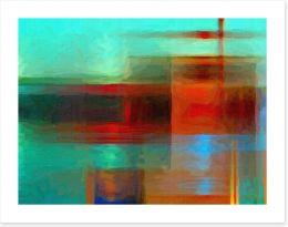 Red horizons Art Print 55658877