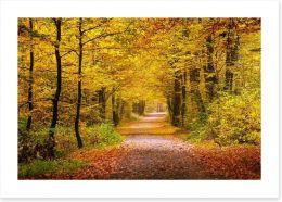 Golden forest Art Print 55873204