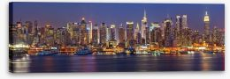 Manhattan at night panorama Stretched Canvas 55873446