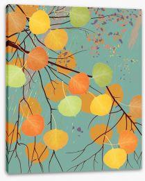 Aspen leaf fall Stretched Canvas 56021846