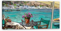 Cafe by the sea Stretched Canvas 56448480