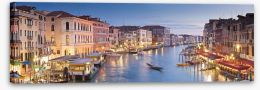 Grand Canal dusk panorama Stretched Canvas 56530345