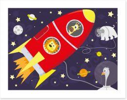 Rockets and Robots Art Print 56579716
