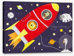 Rockets and Robots Stretched Canvas 56579716