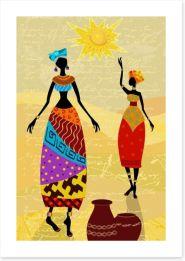 Under the African sun Art Print 56640022