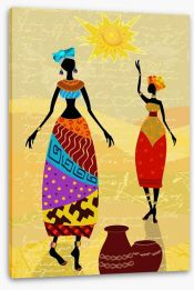 Under the African sun Stretched Canvas 56640022
