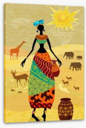 African Art Stretched Canvas 56640036
