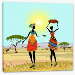 African women on the plains Stretched Canvas 56640059