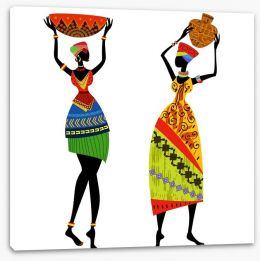 African Art Stretched Canvas 56640092