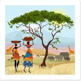 African Art Art Print 56640095