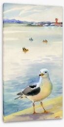 The inquisitive seagull Stretched Canvas 56685973