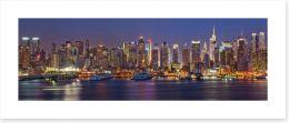 Manhattan nights panorama