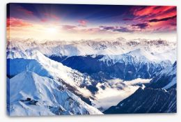 Alpine awakening Stretched Canvas 56854081