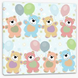 Teddy bears party Stretched Canvas 56857217