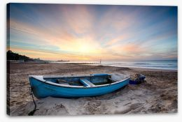 Fishing boat at sunrise Stretched Canvas 57176825
