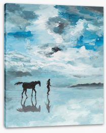 On the morning beach Stretched Canvas 57290554