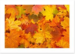 Autumn leaves Art Print 57303409