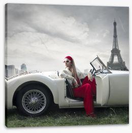 Retro Paris Stretched Canvas 57438689