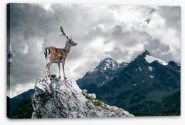 Lonely deer Stretched Canvas 57483060