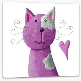 Happy purple cat