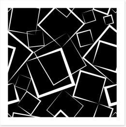 White squares on black