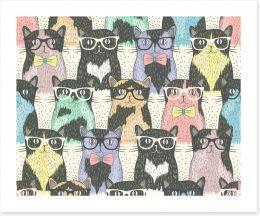 Hipster cats Art Print 58024892