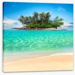 Tropical island paradise Stretched Canvas 58043365