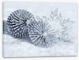 Snowflakes Stretched Canvas 58343267