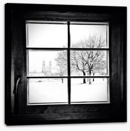 Through the window Stretched Canvas 58538459