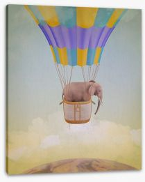 Elephant adrift Stretched Canvas 58543791