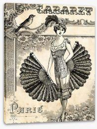 Cabaret burlesque Stretched Canvas 58564651